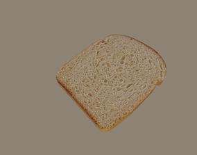 3D model game-ready Bread Slice