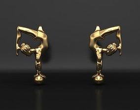 Earrings Gymnastic girl 3D print model female