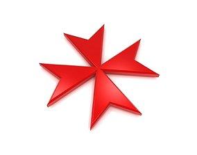 Maltese Cross 3D model