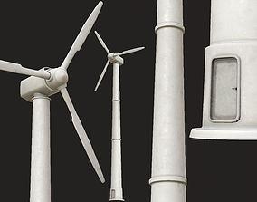 Wind Turbine PBR 3D model