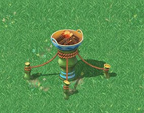 Cartoon world - brazier 3D