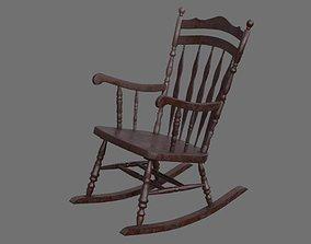 3D asset Rocking Chair 1B