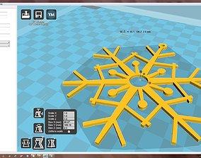 christmas-bauble Snowflake 3D print model