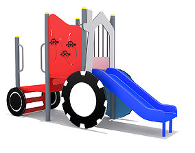 3D asset Playground- Mini Car Playset