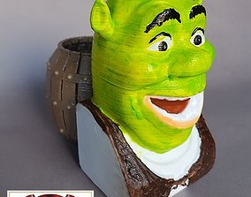 SHREK PEN HOLDER 3D print model
