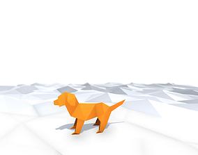 3D asset Origami Dog