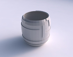 3D print model Bowl cylindrical with sharp ribbons