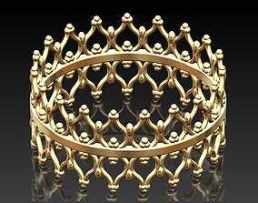 Collection of crown shaped rings 3D print model