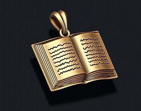 3D printable model Book pendant