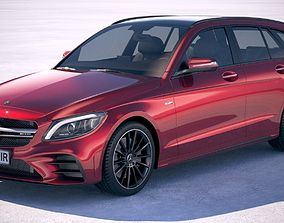 3D Mercedes C-class Estate AMG 2019