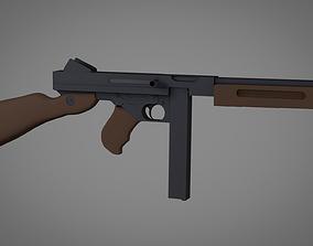 3D M1A1 Thompson Submachine Gun