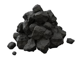 3D asset Pile of coal