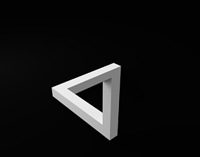 3D printable model Penrose impossible triangle
