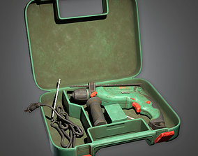 Impact Drill TLS - PBR Game Ready 3D model