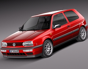 3D model Volkswagen Golf Mk3 GTi 1991-1997
