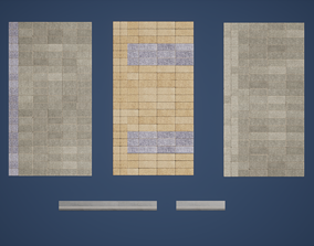 Floor Pieces Game Ready 3D model