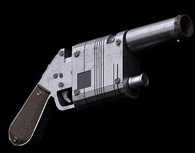 3D model Star Wars Reys NN14 Blaster Rifle
