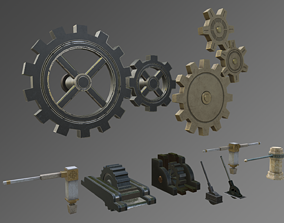 3D asset Gears and Levers