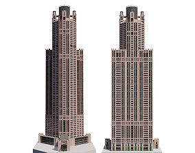 Chicago Building lowpoly 3D asset