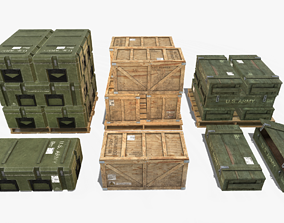 3D model Military Crate Pack
