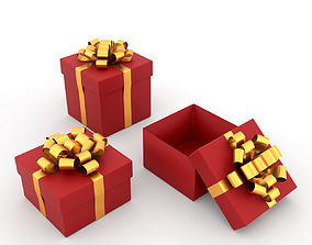 Gift Box Sample Set 3d Model