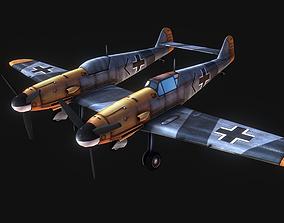Messerschmitt Bf 109 zwilling 3D asset