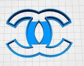 3D printable model cookie cutter chanel