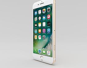 iPhone 7 plus Gold 3D asset