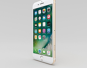 3D asset game-ready iPhone 7 plus Gold