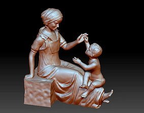 Son and Mother Decorative Ornaments 3D printable model