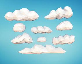 Low Poly Clouds 3D model