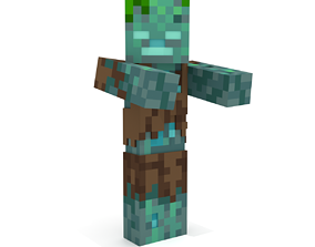 3D printable model Minecraft Drowned