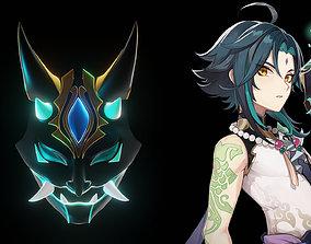 Xiao Genshin Impact Mask Version 2 3D