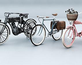 3D model 3 Vintage Bikes