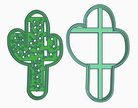 Cactus Cookie Cutter 3D printable model