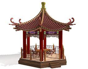 Chinese Gazebo shelter 3D