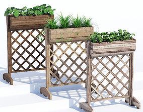Raised planter box 3D model handmade