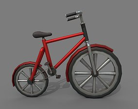 3D asset Bicycle Red