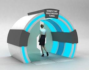 Sanitizer Gate Disinfectant walk through Tunnel 3D