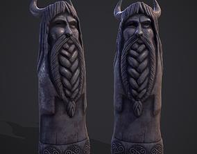 Horned Viking Statue 3D model