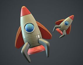 Cartoon Rocket PBR Game Ready 3D asset