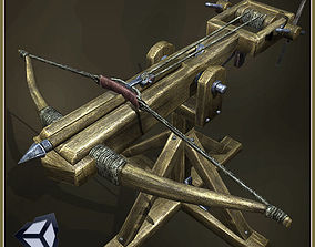 Animated Siege Weapons animated 3D asset realtime