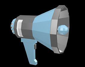 Low poly Horn loudspeaker 1 3D asset