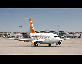 Boeing 737-800 EasyJet 3D animated