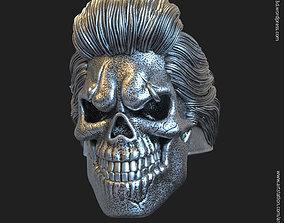 Skull bearded vol4 ring jewelry 3D printable model