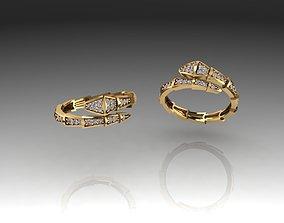 3D print model earrings Bvlgari ring