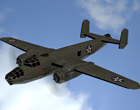 3D model FLY Game-Ready - North American B-25J Mitchell -