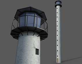 3D asset Lookout tower high sightseeing or lighthouse