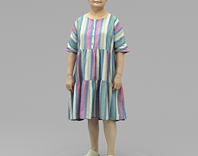 An Old Lady Standing Alone 3D model