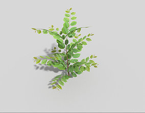 Low poly Plant car 3D model game-ready